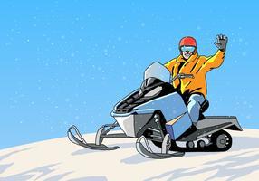 Tour de motoneige vecteur