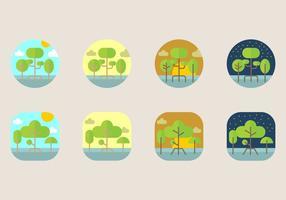 Icône de mangrove vecteur