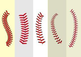 Vecteur libre de lacets de baseball