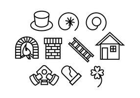 Vecteurs de balayage de cheminée gratuits vecteur