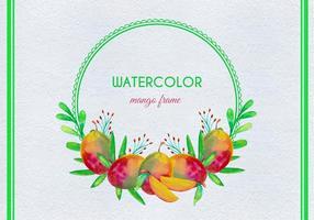 Illustration gratuite de mangue d'aquarelle vectorielle