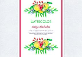 Vecteur aquarelle mango illustration