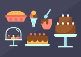 Vecteur gratuit d'éléments de pâtisserie