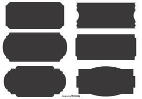 Formes d'étiquettes vectorielles vecteur