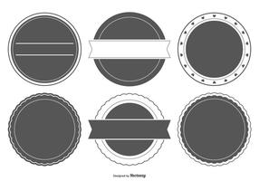 Formes d'insigne en blanc
