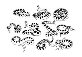 Vecteur de serpent à sonnettes gratuit