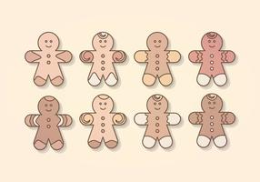 Collection d'homme de gingerbread vector