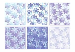 Cartes d'hiver d'aquarelle vectorielle vecteur