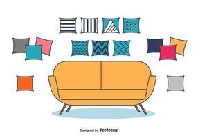Vecteur d'oreillers décoratifs