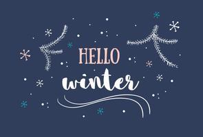 Bonjour Contexte hivernal vecteur