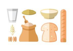 Paquet d'icônes de vecteur de farine d'avoine