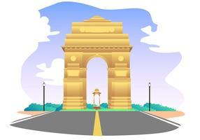 Inde vecteur libre de porte
