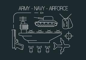 Icônes militaires gratuites vecteur