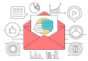 Icônes de contact d'affaires gratuites vecteur