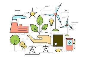 Icônes de vecteur d'énergie gratuite