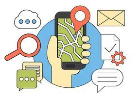 Icônes vectorielles de navigation gratuites vecteur