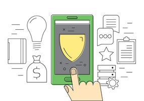 Icônes vectorielles sécurisées gratuites