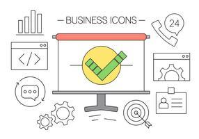 Icônes d'affaires gratuites vecteur