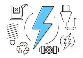 Icônes d'énergie gratuites vecteur