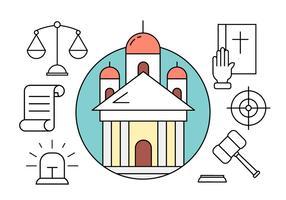 Icônes de vecteurs libres de justice vecteur