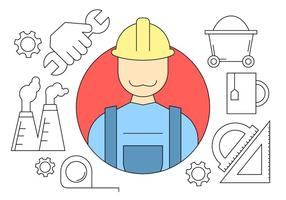 Icônes d'ingénierie de construction