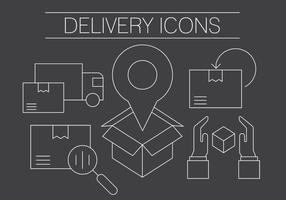 Icônes de livraison gratuite vecteur