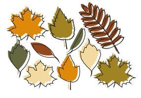 Feuilles d'automne vectorielles vecteur