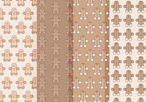 Vecteur gingerbread man patterns