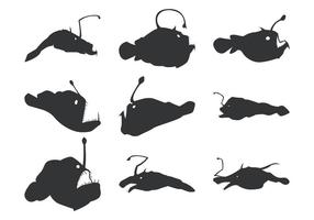 Silhouettes Vector Angler