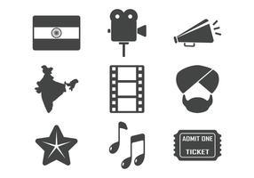 Icônes de Bollywood vecteur