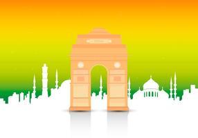 Illustration de référence de la porte de l'Inde vecteur