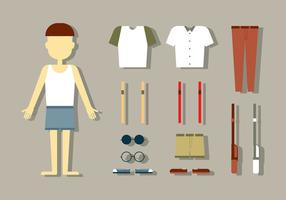 Vecteurs de mode de poupée masculine vecteur