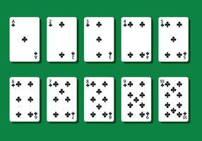 Vecteurs de cartes de poker de club