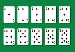 Vecteurs de carte Spade Poker
