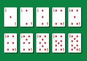 Vecteurs de carte de poker en diamant