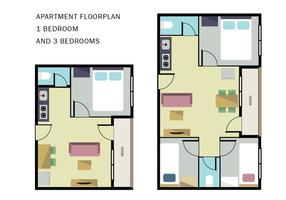 Plan de l'appartement vecteur