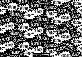 Motif sans heur noir vendredi vecteur