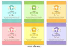 Bautizo vector invitations template vierge