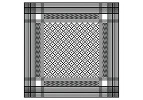Keffiyeh Black Seamless Pattern