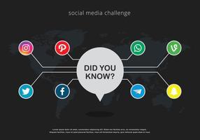 Illustration des médias sociaux trivia