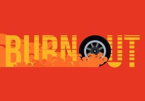 Illustration dérivée de la voiture et du burnout vecteur