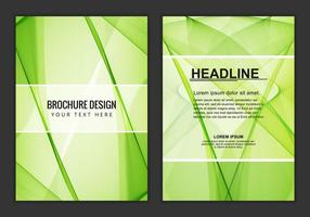 Brochure d'affaires ondulée de vecteur libre