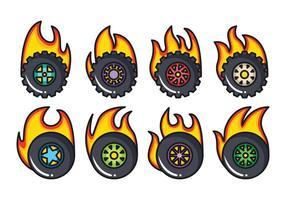 Pack de vecteur de roue libre Burnout