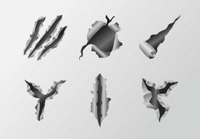Vecteurs de déchirure de rayures vecteur
