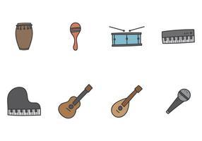Icône d'instrument de musique vecteur