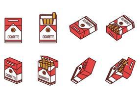 Vecteurs de paquets de cigarettes vecteur