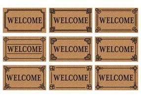 Vector de tapis de porte de bienvenue gratuit