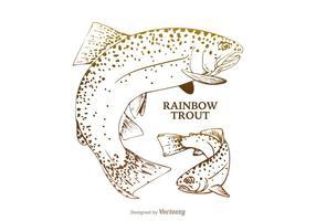 Illustration gratuite de vecteur de truite arc-en-ciel