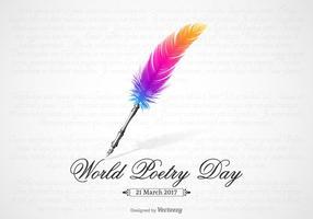Conception de vecteur de la journée mondiale de la poésie gratuite