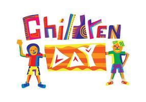 Illustration vectorielle gratuite de la Journée de l'enfant